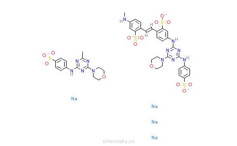 CAS:28950-61-0_荧光增白剂210的分子结构