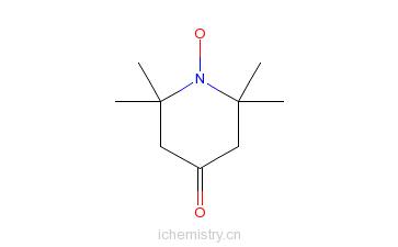 CAS:2896-70-0_4-氧-2,2,6,6-四甲基哌啶-1-氧自由基的分子结构