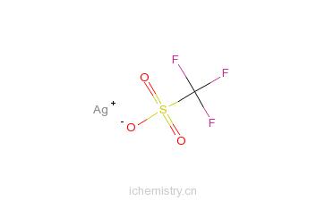 CAS:2923-28-6_三氟甲烷磺酸银的分子结构
