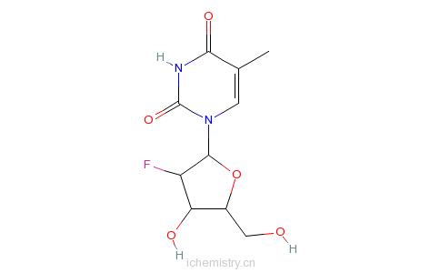 CAS:2923-73-1_2'-氟胸苷的分子结构