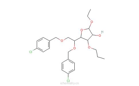 CAS:29899-95-4_氯苄葡甙的分子结构