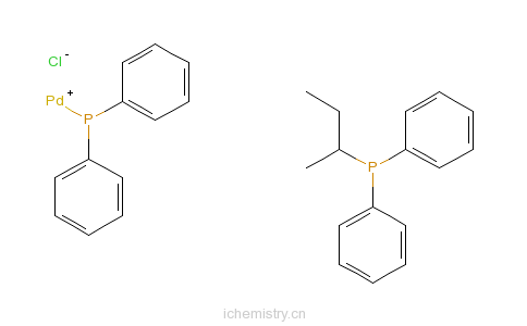 CAS:29964-62-3_1,4-双(二苯基膦丁烷)二氯化钯的分子结构