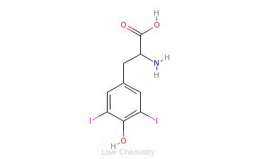 CAS:300-39-0_3,5-二碘-L-酪氨酸的分子结构
