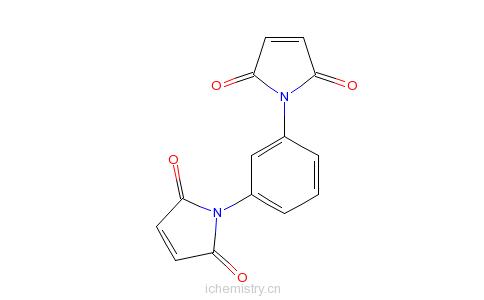 CAS:3006-93-7_N,N'-间苯撑双马来酰亚胺的分子结构