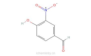 CAS:3011-34-5_4-羟基-3-硝基苯甲醛的分子结构