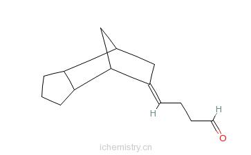 CAS:30168-23-1_4-[三环[5,2,1,O2,6]癸亚基-8-烯]丁醛的分子结构