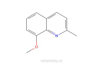 CAS:3033-80-5_8-甲氧基-2-甲基喹啉的分子结构