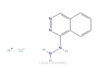 CAS:304-20-1_盐酸肼屈嗪的分子结构