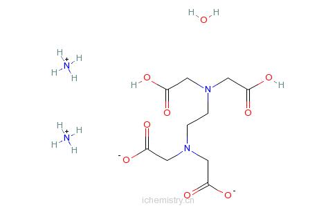CAS:304675-80-7_二铵乙二胺四乙酸水合物的分子结构