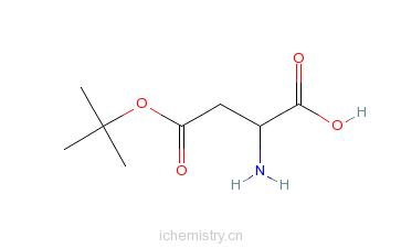 CAS:3057-74-7_L-天门冬氨酸-4-叔丁基酯的分子结构