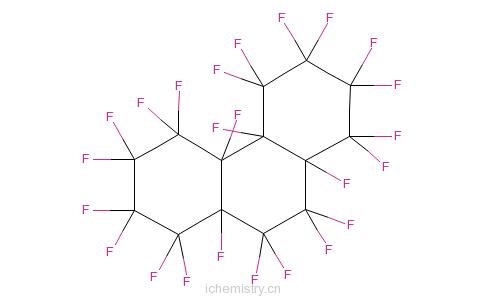 CAS:306-91-2_二十四氟代十四氢代菲的分子结构