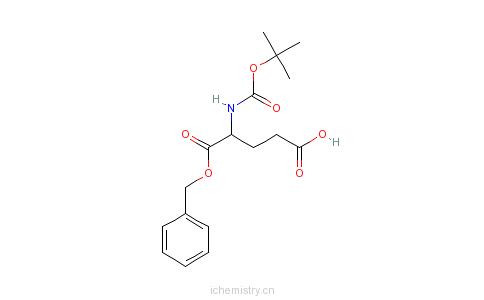 CAS:30924-93-7_N-叔丁氧羰基-L-谷氨酸1-苄酯的分子结构