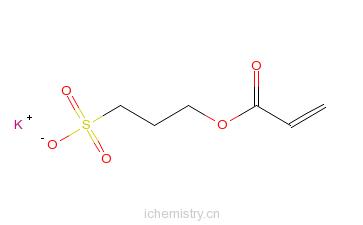 CAS:31098-20-1_3-丙-2-烯酰氧基丙烷-1-磺酸钾的分子结构