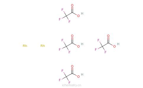 CAS:31126-95-1_三氟乙酸铑二聚体的分子结构