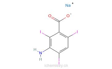 CAS:3119-15-1_3-氨基-2,4,6-三碘苯甲酸的分子结构