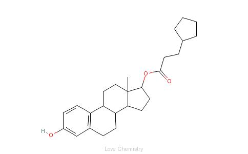 CAS:313-06-4_环戊丙酸雌二醇的分子结构