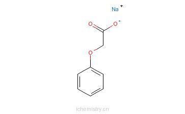 CAS:313222-85-4_苯氧乙酸钠的分子结构