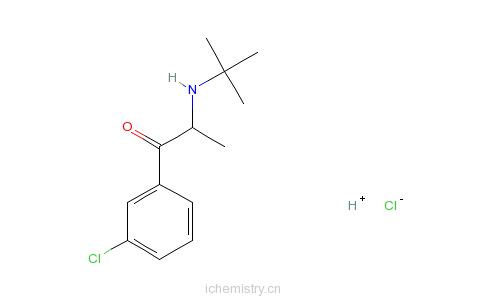 CAS:31677-93-7_盐酸安非他酮的分子结构