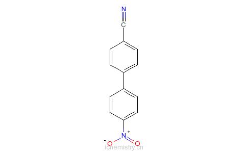 CAS:31835-63-9_4-氰基-4'-硝基二苯的分子结构