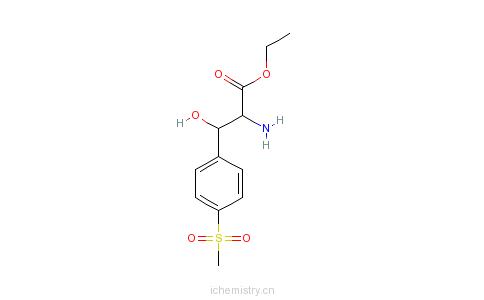 CAS:31925-27-6_3-[4-(甲磺酰基)苯基]丝氨酸乙酯的分子结构