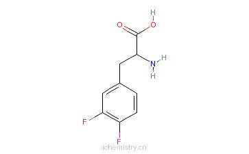 CAS:32133-36-1_DL-3,4-二氟苯丙氨酸的分子结构