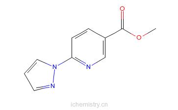 CAS:321533-62-4_6-吡唑-1-基烟酸甲酯的分子结构