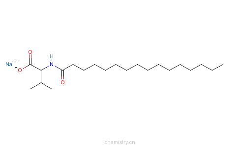 CAS:32190-54-8_N-十六碳酰基-L-缬氨酸钠的分子结构