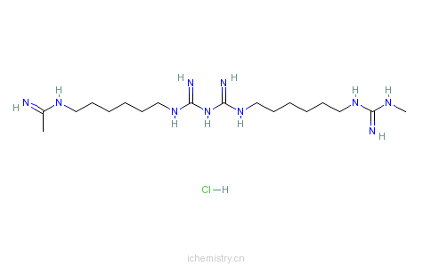 CAS:32289-58-0_聚六亚甲基双胍盐酸盐的分子结构