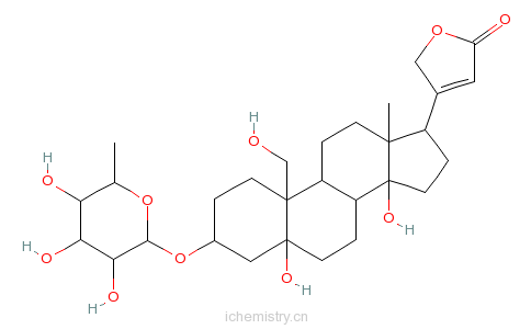 CAS:3253-62-1_铃兰醇苷的分子结构