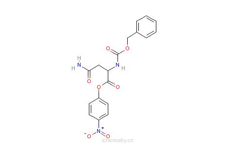 CAS:3256-57-3_CBZ-L-天门冬酰胺4-硝基苯酯的分子结构