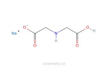 CAS:32607-00-4_亚氨二乙酸钠,一水的分子结构