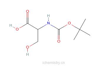 CAS:3262-72-4_BOC-L-丝氨酸的分子结构