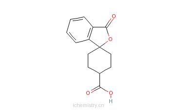 CAS:328233-08-5_反式-3'-氧代-螺[环己基-1,1'(3'H)-异苯并呋喃]-4-羧酸的分子结构