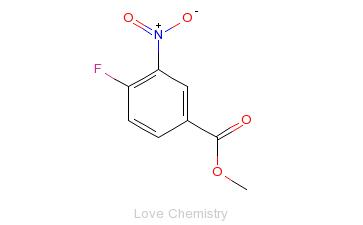 CAS:329-59-9_4-氟-3-硝基苯甲酸甲酯的分子结构