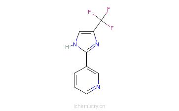 CAS:33468-84-7_3-(4-三氟甲基-1H-咪唑-2-基)吡啶的分子结构
