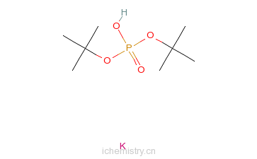 CAS:33494-80-3_磷酸二叔丁酯钾盐的分子结构