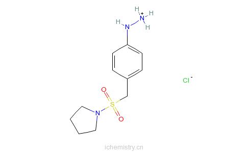 CAS:334981-11-2_4-(1-吡咯烷基磺酰基甲基)苯肼盐酸盐的分子结构
