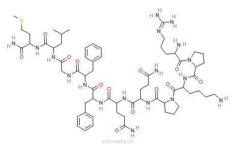 CAS:33507-63-0_多肽物质P的分子结构