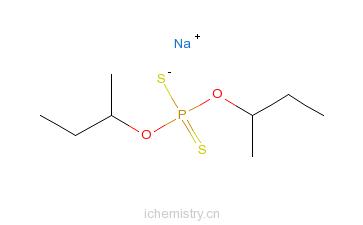 CAS:33619-92-0_二硫代磷酸-O,O-二(1-甲基丙基)酯钠盐的分子结构
