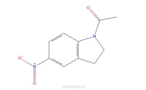 CAS:33632-27-8_1-乙酰-5-硝基吲哚啉的分子结构