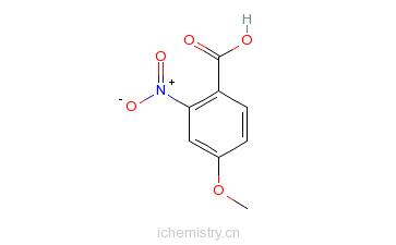 CAS:33844-21-2_4-甲氧基-2-硝基苯甲酸的分子结构