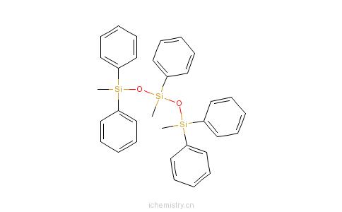 CAS:3390-61-2_1,3,5-三甲基-1,1,3,5,5-五苯基三硅二氧烷的分子结构