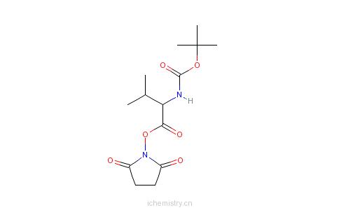 CAS:3392-12-9_Boc-L-缬氨酸羟基琥珀酰亚胺酯的分子结构