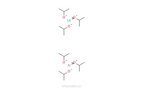 CAS:33939-97-8_三(四异丙氧基铝)化镧的分子结构