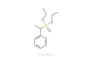 CAS:33973-48-7_1-苯乙基磷酸二乙酯的分子结构
