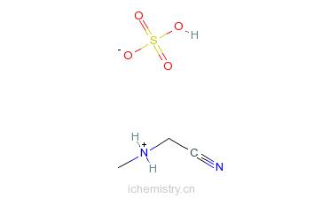CAS:33986-15-1_甲氨基乙腈硫酸盐的分子结构