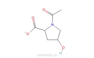 CAS:33996-33-7_N-乙酰-L-羟基脯氨酸的分子结构