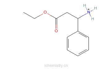 CAS:340188-50-3_(R)-3-氨基-3-苯丙酸乙酯盐酸盐的分子结构