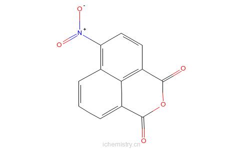 CAS:34087-02-0_4-硝基-1,8-萘二甲酸酐的分子结构