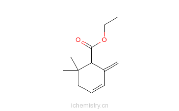 CAS:35044-58-7_6,6-二甲基-2-亚甲基-3-环己烯-1-羧酸乙酯的分子结构